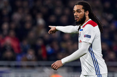 Jason Denayer playing for Lyon