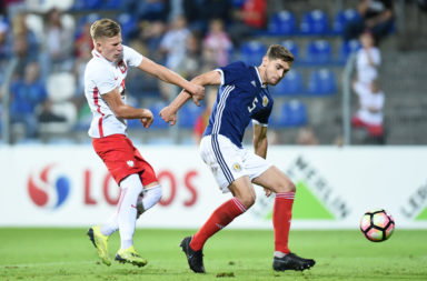 Robbie Deas with Scotland