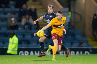 Celtic target David Turnbull in action for Motherwell