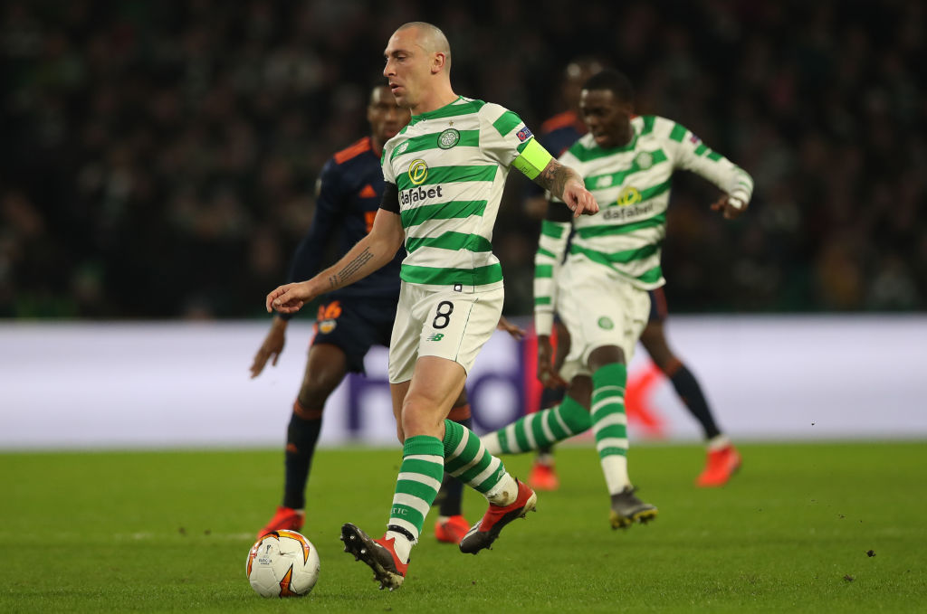 Celtic's Scott Brown in Europa League action