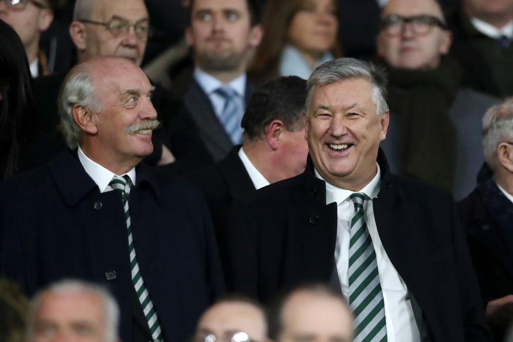 Dermot Desmond and Celtic chief executive Peter Lawwell