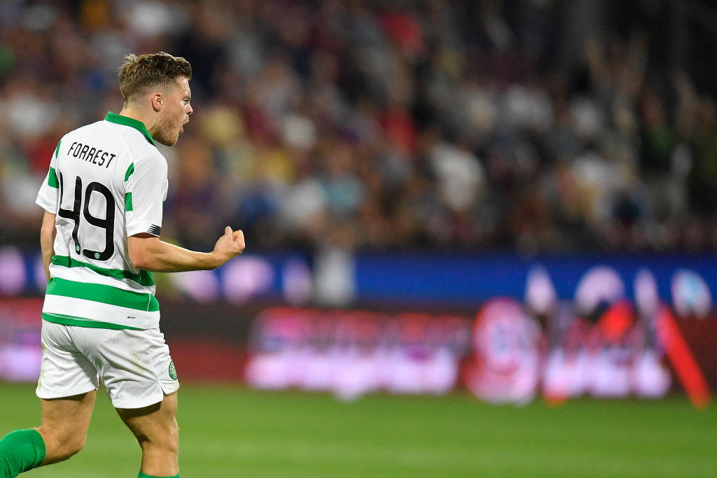Celtic are in the ascendancy after James Forrest's goal in Romania