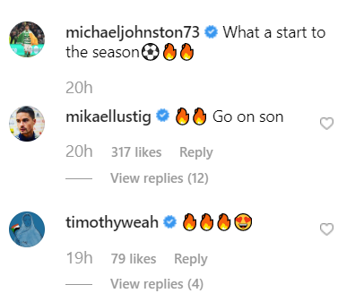 Celtic's Mikey Johnston gets support on Instagram