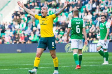Celtic captain Scott Brown takes a trip down memory lane with Broony celebration.