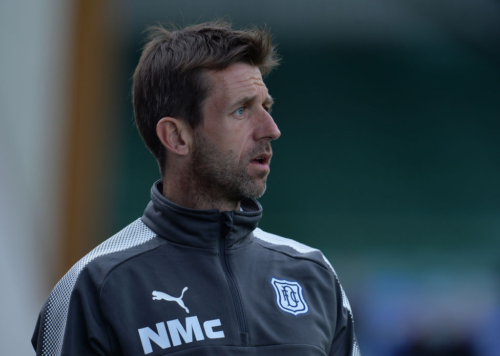 Neil McCann as manager of Dundee