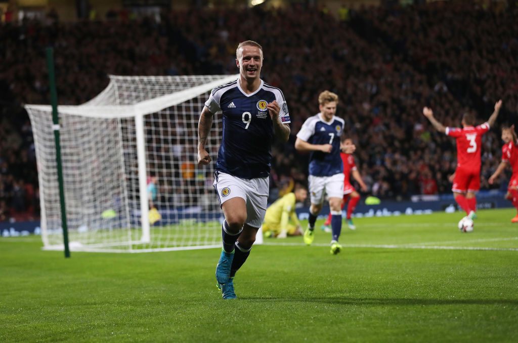 Leigh Griffiths scoring for Scotland