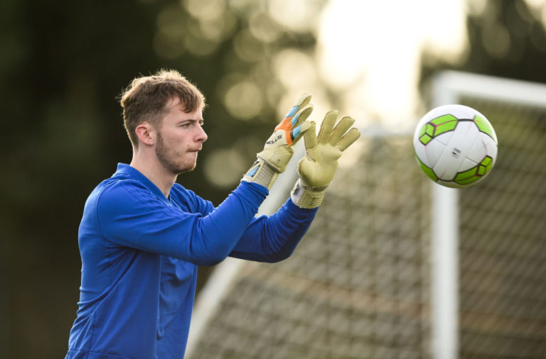 Dundee manager James McPake is happy with Celtic stopper Conor Hazard.