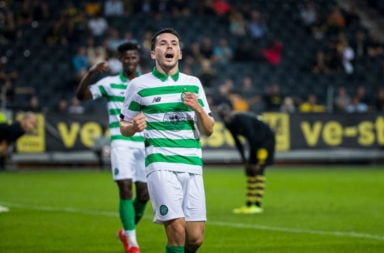 Celtic winger Lewis Morgan denies he is going to Hibs on loan.
