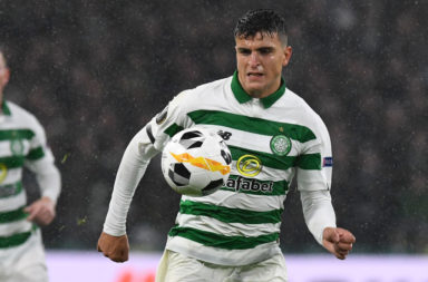 Mohamed Elyounoussi in action for Celtic