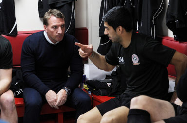 Brendan Rodgers can hook up with Luis Suarez at Barcelona.