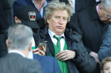 Green Brigade voiced their dismay at celeb Celtic fan Rod Stewart