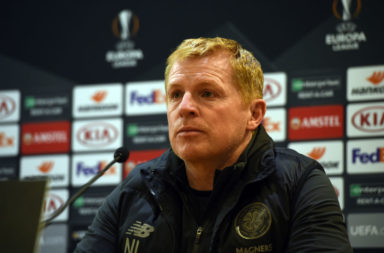 Neil Lennon Europa League press conference