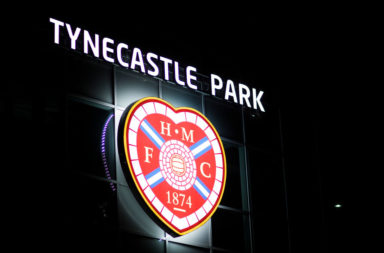 View of Tynecastle before Celtic visit