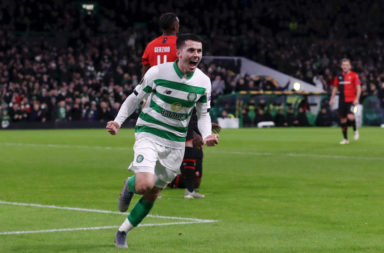 Celtic attacker Lewis Morgan