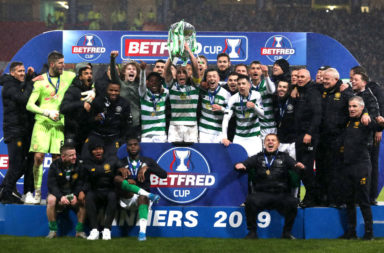 Celtic celebrate League Cup win