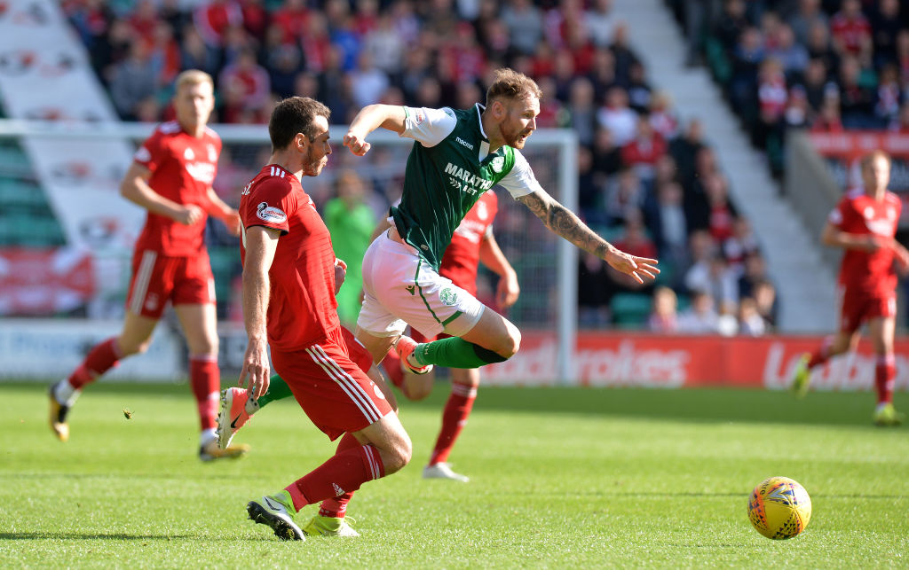 Martin Boyle playing against Aberdeen