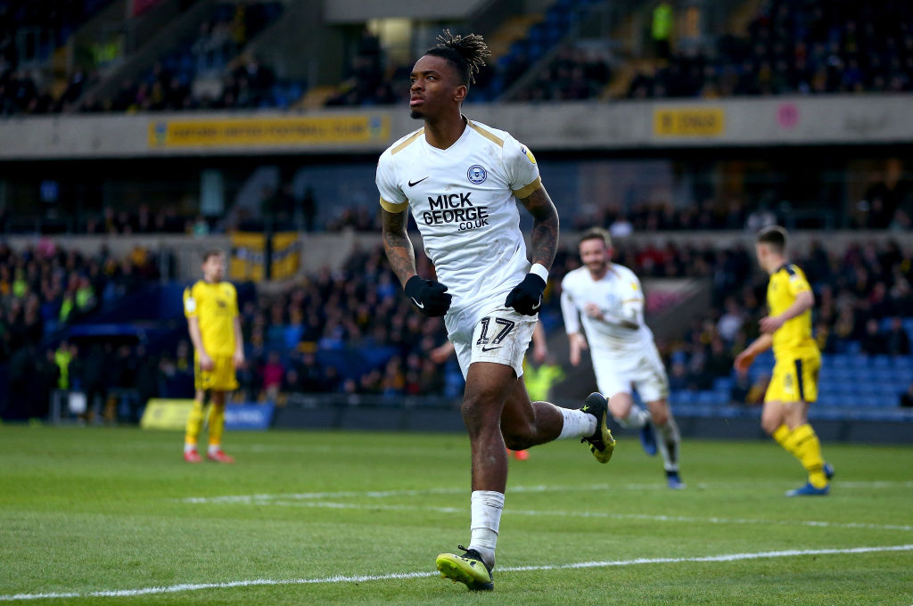 Ivan Toney scores for Peterborough