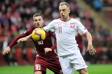Grosicki in action for Poland
