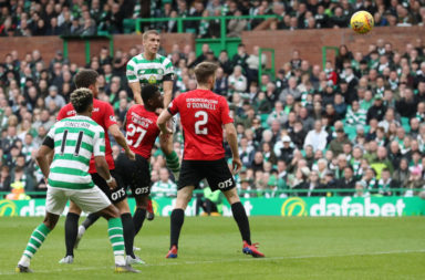 Jozo Simunovic powers home a header