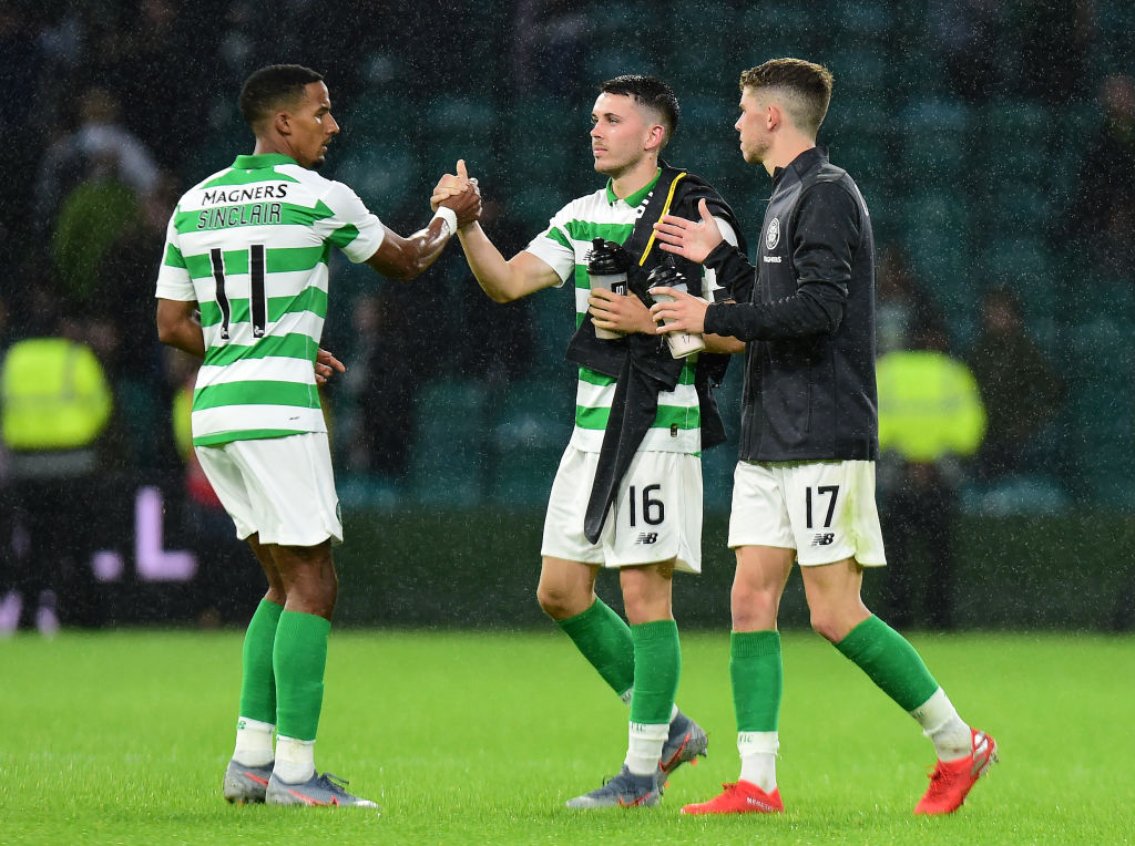 Scott Sinclair and Lewis Morgan