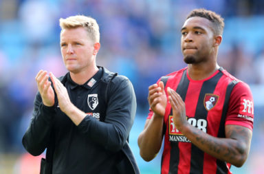Eddie Howe and Jordon Ibe