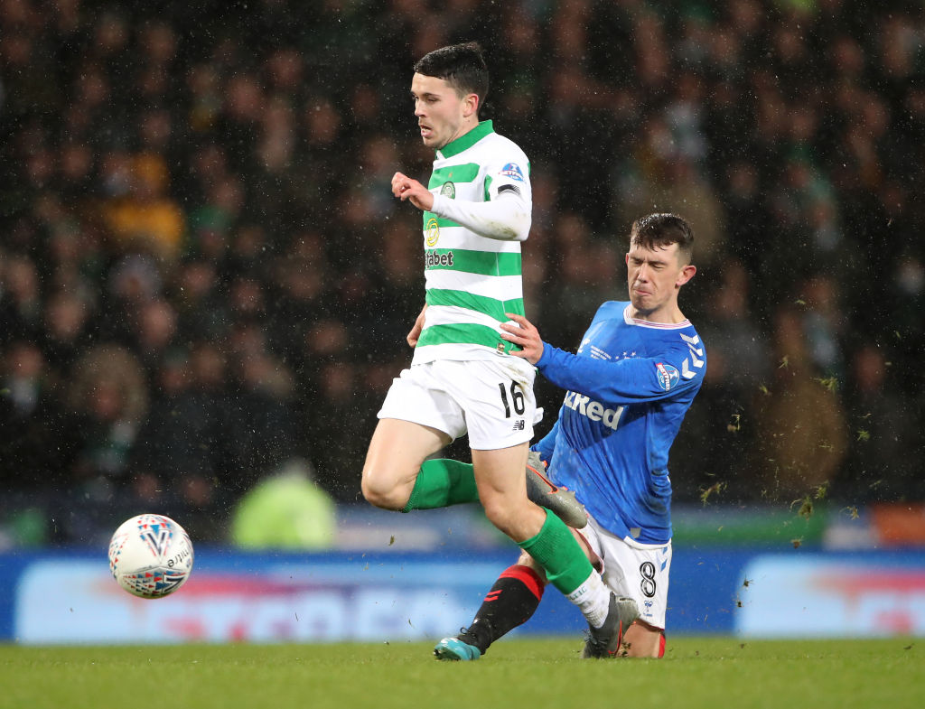 Lewis Morgan against Rangers