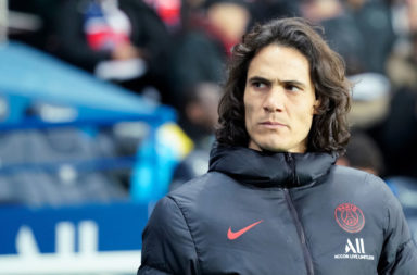 PSG striker Edison Cavani was pictured at Celtic Park in old clip.
