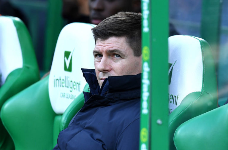 Rangers manager Steven Gerrard at Celtic Park