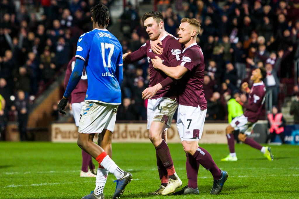 Hearts beat Rangers 2-1 on Sunday