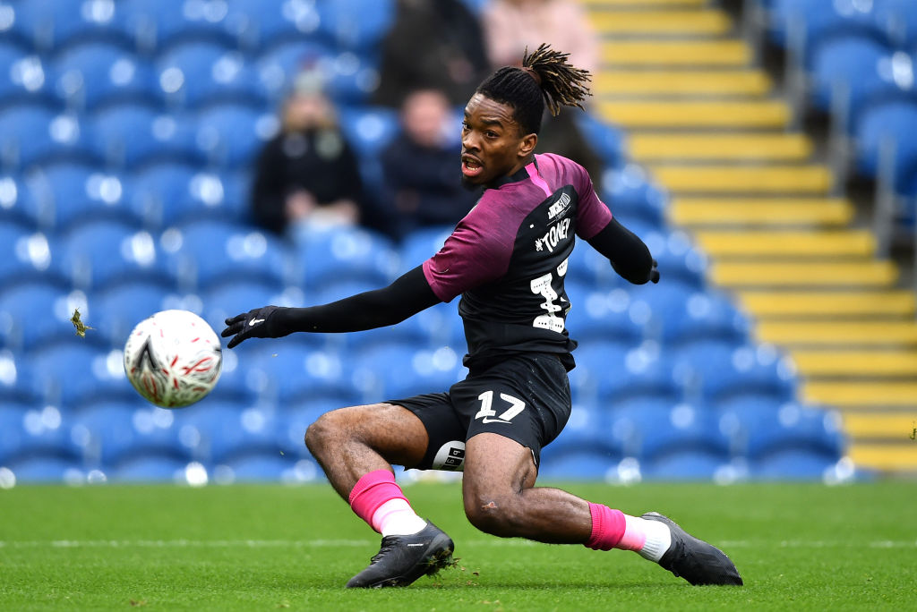 Ivan Toney in action for Peterborough