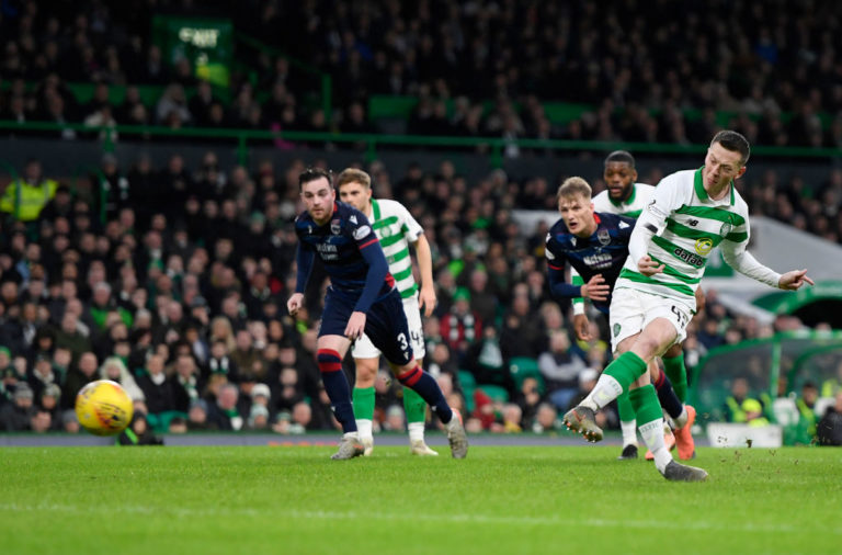 Callum McGregor opens the scoring for Celtic
