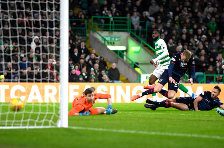 Odsonne Edouard scores his second goal against Ross County