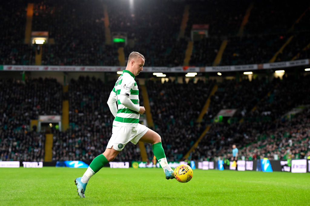 Celtic striker Leigh Griffiths is back on the pitch