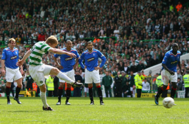 Barry Robson scores against Rangers