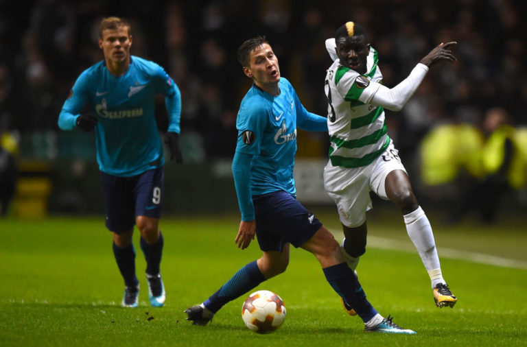 Celtic's Eboue Kouassi in action