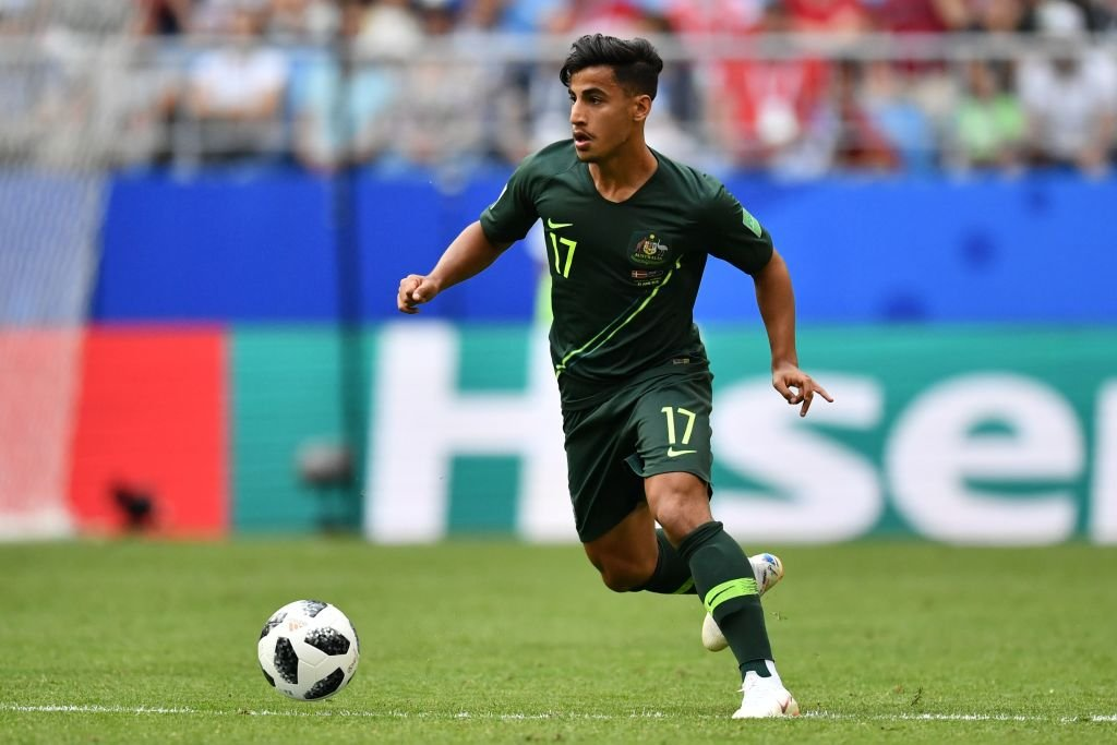 Arzani in action at the World Cup