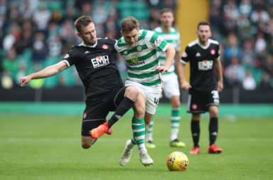 Celtic winger James Forrest v Hamilton