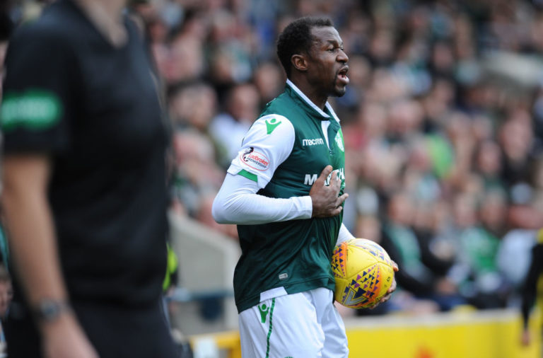 Efe Ambrose in his Hibs days