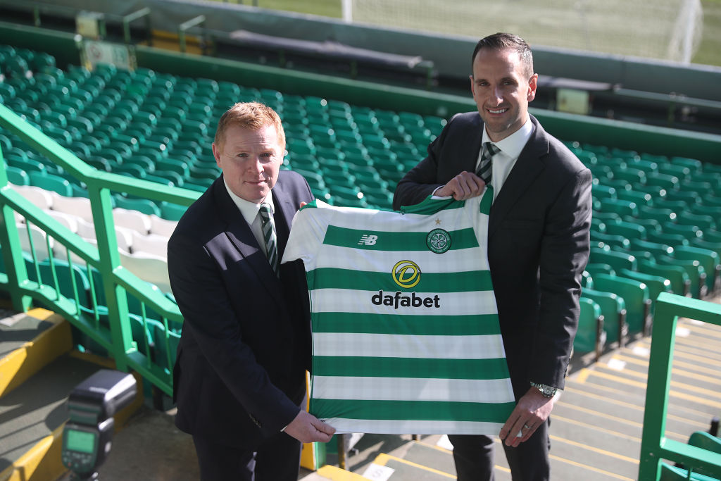 Celtic manager Neil Lennon and coach John Kennedy