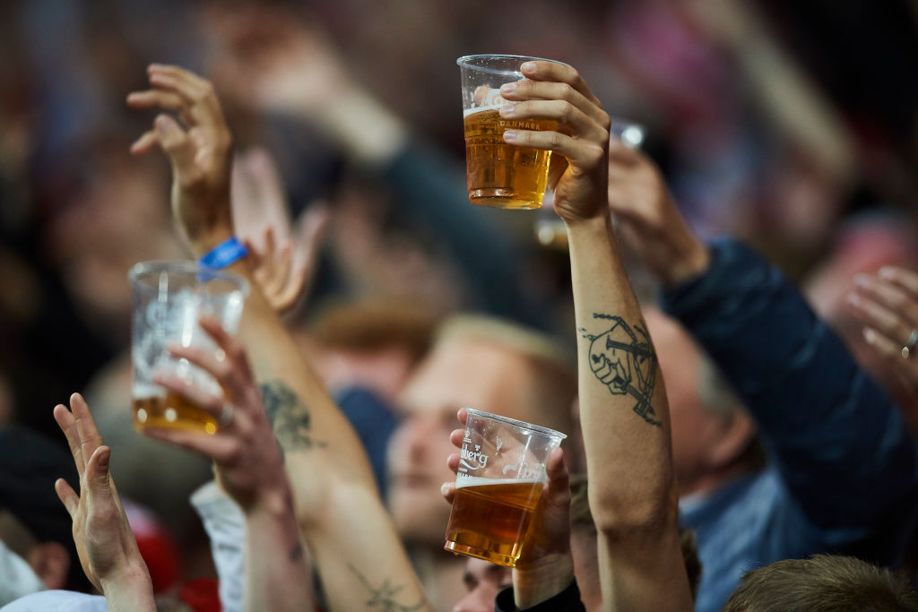 Beer will be on sale inside the Parken Stadium