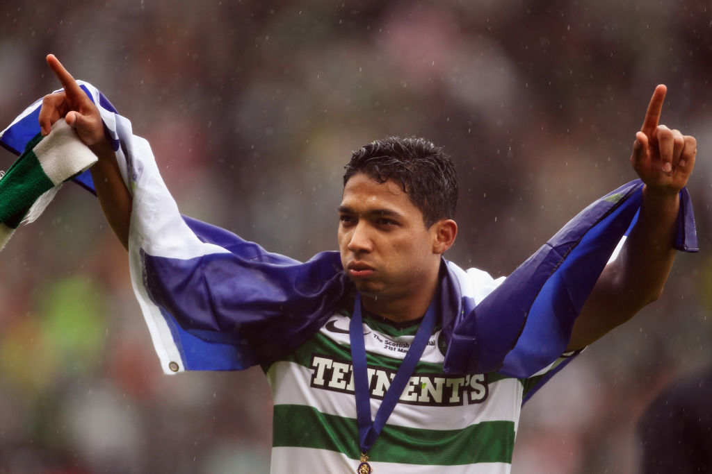 Emilio Izaguirre in his first season at Celtic