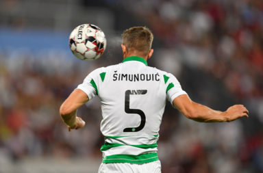 Jozo Simunovic in action for Celtic
