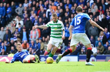 Jonny Hayes was the hero at Ibrox in September
