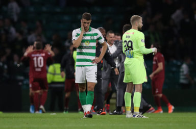 Cluj won at Celtic Park in August