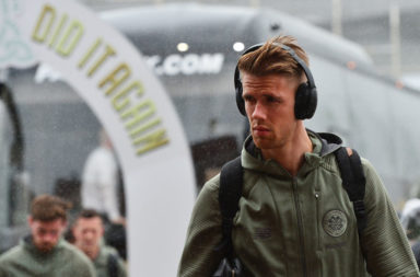 Ajer outside Celtic Park