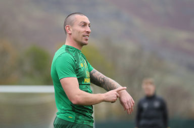Scott Brown in Celtic training
