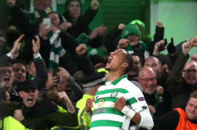 Celtic defender Christopher Jullien celebrates a goal