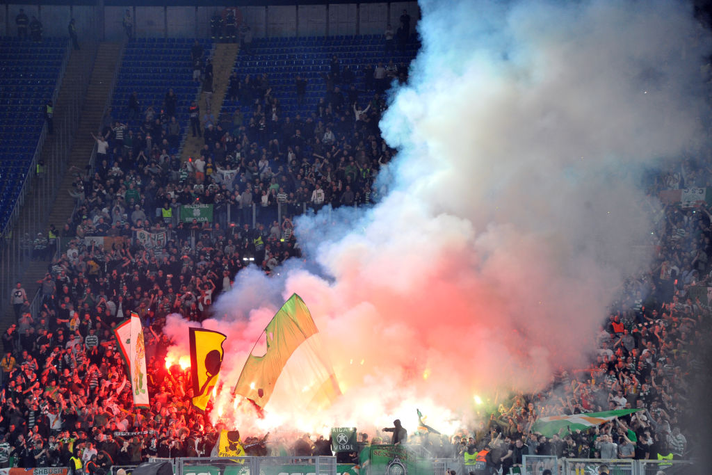 The Celtic support in Rome