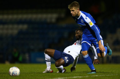 Tucker in action for Gillingham