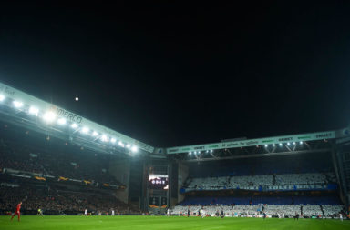 Parken Stadium under the lights